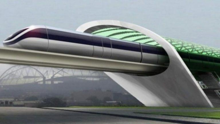 Trenul viitorului în provincia franceză